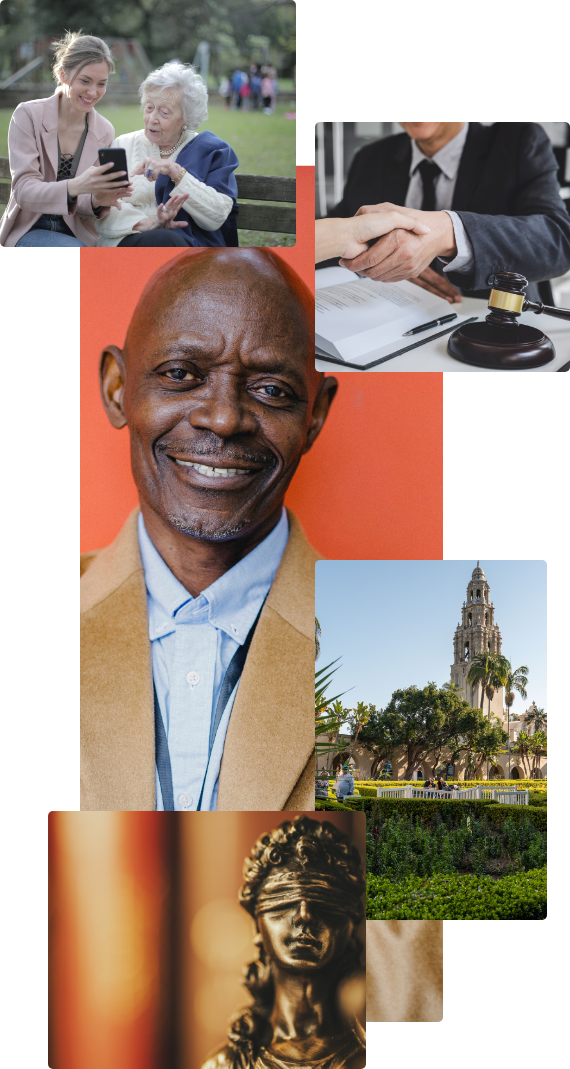 about page collage of san diego and business professionals
